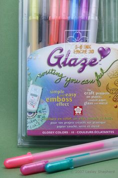 Sakura Glaze Pens For Miniature and Dollhouse Projects: Glaze pens are good for creating stained glass effects in miniature