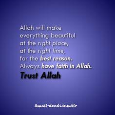 Trust Allah!