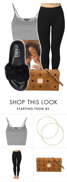 7/13/16 by lookatimani ❤ liked on Polyvore featuring Topshop, MCM and Puma