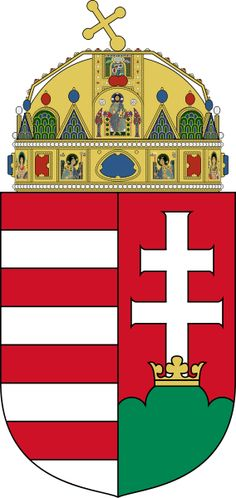 National symbols of Hungary - coat of arms Hungary Flag, National Symbols, Austro Hungarian, Family Crest, Central Europe, Crests, My Heritage, Coat Of Arms, Badge