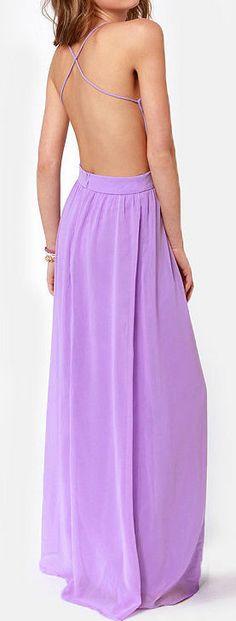 Purple Backless Maxi Dress ♥