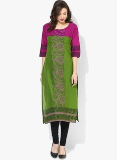 LadyIndia.com # Kurtas, Attractive Printed Cotton Green Kurti For Women, Kurtis, Kurtas, Cotton Kurti, https://ladyindia.com/collections/ethnic-wear/products/attractive-printed-cotton-green-kurti-for-women