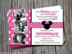 Minnie mouse birthday party ideas invitation