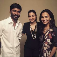 Kajol shared a pic with Dhanush and Soundarya on the first day of shooting her upcoming Tamil film. Excited?  #Kajol #KajolDevgn #Dhanush #Soundarya #tamilmovie #celebrity #bollywood #bollywoodactress #bollywoodactor #actor #actress #filmywave
