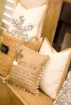 bell snowflake pillow!