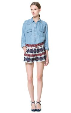 Image 1 of PRINTED BERMUDA SHORTS from Zara
