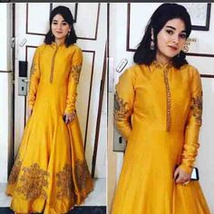 Zaira Wasim In A Beautifully Embroidered Dress.For This Mail Us At contact@ladyselection.com