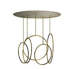 (KI) BRASS SIDE TABLE