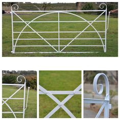 Modelled on Tasmanian heritage gate, pre 1900. Berwick, Victoria. Hand forged and rivetted. Traditional spring latch. POA. Made to measure. No Climb Horse Fence, Cast Iron Gates, Wrought Iron Garden Gates, Gate Post, Custom Gates, Farm Gate, Front Gates, Farm Shop, Backyard Garden Design