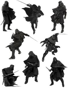 Corvo Poses - Pictures & Characters Art - Dishonored