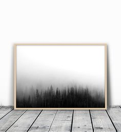 Forest Print Forest Photography Woodland Print by MotivatedWallArt