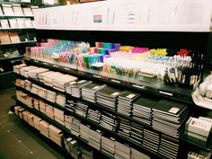 the stationery section at the muji store gives me life Stationary Store, Stationary School, School Stationery, Stationary Items, Stationary Supplies, Art Supplies, School Motivation, Study Motivation, School Suplies