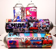 Graffiti Spray Can Art. $39.99, via Etsy.