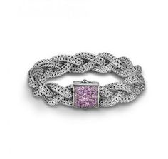 #JohnHardy woven #PinkSapphire Sterling #Bracelet – A must in any #girls #Jewelry collection.  Shop all John Hardy collections here - http://www.mulloysjewelry.com/designers/john-hardy.html
