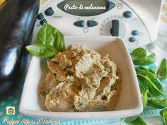 Pesto di melanzane basilico pinoli e parmigiano Antipasto, Mousse, Sauces, My Favorite Food, Favorite Recipes, Pesto Recipe, Tzatziki, Mashed Potatoes, Salsa