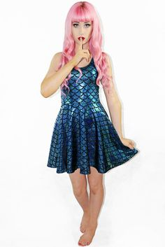 Traditional Little Mermaid Skater $75 AUD - Living Dead Clothing
