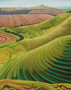 Undulations above East Field, Vale of Pewsey. Anna Dillon.
