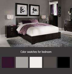 Attractive Gray And Purple Bedroom Ideas This Is A Similar Color Swatch To What Are Planning On But Two