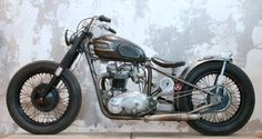 Triumph Bobber by Wrenchmonkees via Hook Motors Triumph Bobber, Motos Bobber, Bobber Bikes, Triumph Motorcycles, Triumph 650, Triumph Motorbikes, Bobber Chopper, British Motorcycles, Cool Motorcycles