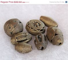 Summer Sale Vintage African Brass Beads MixTribal by ColorSquare, $29.25