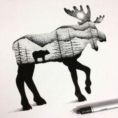 dessins-en-pointillisme-et-double-exposition-de-Thiago-Bianchini-18