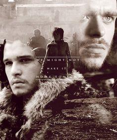 Robb Stark, Arya Stark and Jon Snow