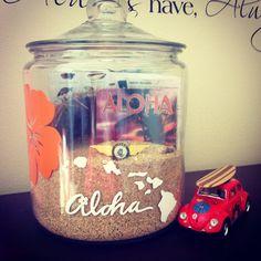 {My Pin} DIY Hawaiian Vacation Memory Jar