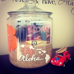{My Pin} DIY Hawaiian Vacation Memory Jar