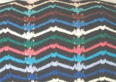 Striped Reversible Ripple Afghan