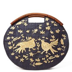 Frida Embroidered Clutch design by Mar Y Sol