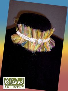 Sheer Striped Choker with Hand Painted by Relishedartistry on Etsy, $45.00