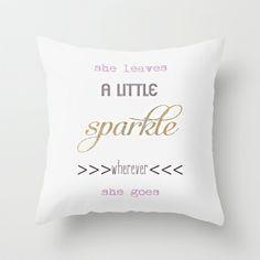 Sparkles Throw Pillow by Monika Strigel - $20.00