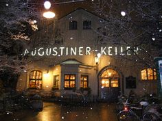 Augustiner-Keller, Munich (Beer Garden with full playground for kids?? I love Europe)