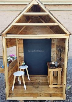 Let's amaze your kid's with crafted this unique design kid's playhouse made from reused wooden pallets of your home. This playhouse for kids is best to craft in any area of your home and your kids will definitely attract it's appealing beauty for the first sight.