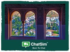 Thomas C. from Granada: A wonderful view from the Alhambra Palace. Shared with ChatSim. App used: Telegram. Credit used: 15 (photo size 150 KB)