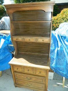 3 Drawer Wood Dresser Hutch Cabinet Storage Kitchen Buffet Vintage Country In Los Angeles