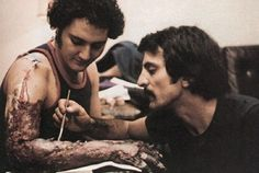 Tom Savini Notable Credits: Dawn of the Dead, Friday the Maniac, Creepshow, Day of the Dead When it comes to sliced body parts and p. Horror Icons, Horror Films, Horror Art, Happy Birthday Tom, Tom Savini, Special Effects Makeup Artist, Makeup Masters, Horror Pictures, Classic Horror Movies