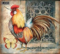 2019 Proud Rooster Wall Calendar Susan Winget by Lang Companies for sale online Rooster Painting, Rooster Art, Rooster Decor, Painting On Wood, Image Deco, Country Chicken, Decoupage Paper, Paper Quilling, Quilling Ideas