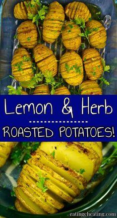 Lemon herb roasted potatoes | Eating Cheating