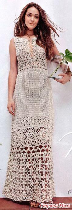 .. Красивое длинное платье - Все в ажуре... (вязание крючком) - Страна Мам