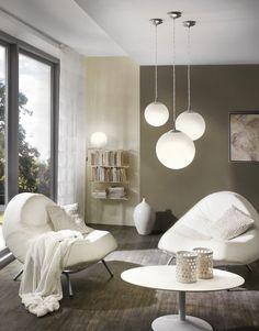 EGLO Rondo - Hanglamp - 1 Lichts - Nikkel-Mat - Wit