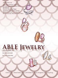 Able Jewelry Mfg. Ltd. #HKJE #Magazine #Summer/Fall2016 #Advertisement…