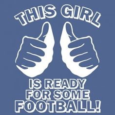 This girl is ready for some football!