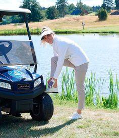 Golf Shoes, Classic Beauty, Panama Hat, Action, Lady, Beautiful, Group Action, Panama