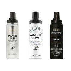 Milani Make it Last / Dewy Prime + Correct + Set Spray Variety 16 Hour Wear Milani Cosmetics, Makeup Deals, Cruelty Free Makeup, Lip Stain, Eye Palette, Setting Spray, Summer Makeup, Best Face Products, Covergirl