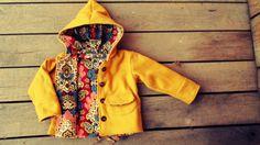 276a34fb8e99 Girls Fleece Coat Jacket Mustard Yellow with by plainjanesstore