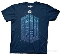 Doctor Who - Logo Of Words Camisetas