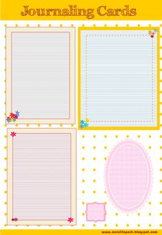 MeinLilaPark – DIY printables and downloads: free lined journaling cards and scalloped journaling spots – ausdruckbare Notizzettel – freebies