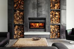Stovax Riva Studio Wood Fire has low emissions and is New Zealand clean air approved for urban use.