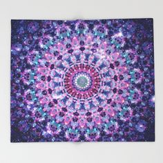 Throw Blanket featuring ARABESQUE UNIVERSE by Monika Strigel